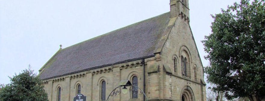 Photo of the front of Holy Trinity Church